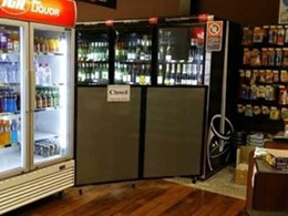 Custom portable partition helps IGA Jamberoo achieve government regulations