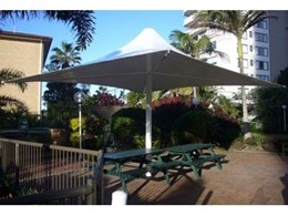 Customised Flexshade outdoor umbrellas