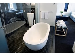DADOquartz bathtubs and pedestal basins from Dado Australia used in five-star Manna Hotel