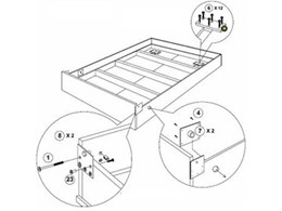 DIY Hideaway Wall Bed Flatpack assembly and installation instructions