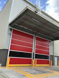DMF's Series RL3000 rapid roll doors for warehousing and logistics