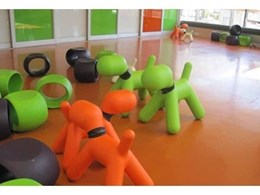 Dalsouple's colourful rubber flooring for children's areas from iRubber