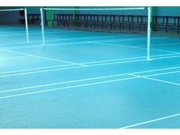 Decoflex universal indoor sport flooring installed in Brisbane College multipurpose hall