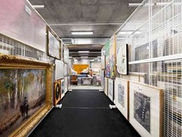 Dexion mobile art racking solutions help store Bendigo Art Gallery collections