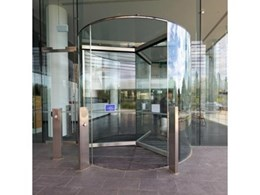 Diamond Series Revolving Doors With Fully Frameless Glass from Record Automated Doors
