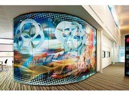 Digiglass divider screen wall used for teen lounge at new Wanneroo Library
