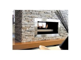Double Vision gas fireplaces available from Real Flame