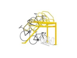 Double story bike racks available from Leda Security Products