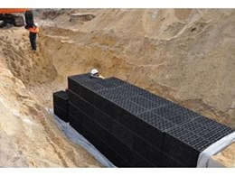 Drainwell storm water detention systems from Novaplas