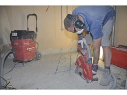Dry-cut demolition saws available from Kennards Hire minimise dust