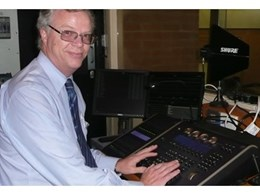 ETC Ion lighting control console installed at Brighton college
