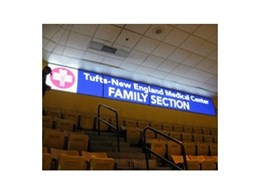 Easily updatable illuminated signage from Vista System at the TD Banknorth Garden Stadium, Boston