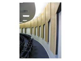 Economic noise control panel kits available from Supawood Architectural Lining Systems