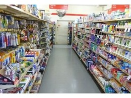 Ecotile Standard embossed grey interlocking tiles used to replace supermarket flooring