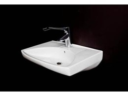 Elegant Scandinavian IFO wash basins from Enware offer architectural excellence
