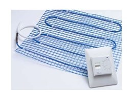 Elektra in-floor heating mat available from P.A.P. Heating Solutions