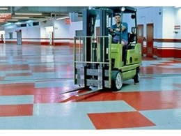 Endura rubber flooring from iRubber is tough enough to take a forklift