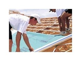 EnviroSeal Roof Sarking from Bradford Insulation (CSR) provides reflective thermal insulation