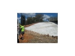 Erosion Protection Systems install concrete filled mattress system in Bourke