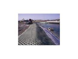 Erosion Protection Systems' revetment mattress used for wharf embankment protection