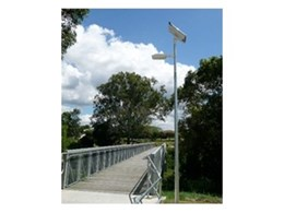 EverGEN SE-20 solar powered LED lights from Orion Solar illuminate bikeways in Brisbane