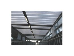 Everbright Roofing Systems supply E610 polycarbonate roofing panel system for Sydney International Airport Terminal 1