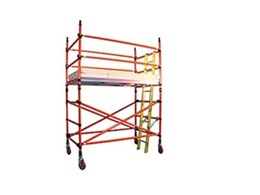 Fibreglass mobile scaffold towers from Advance Scaffold a safe aluminium alternative