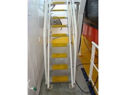 Fibreglass reinforced stair tread covers from Staircare supplied to Geo Celtic seismic vessel