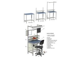 Fixed height workstation ErgoStyle 96 Series from AME System