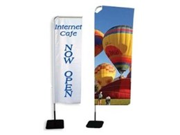 Flag and banner stands from National Sign Systems