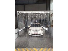 Flexshield SonicClear PVC screen supplied to QLD car detailing company for spray bay
