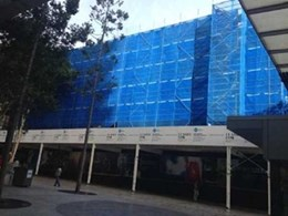 Flexshield builds 18m high noise wall for Rosenlund Contractors