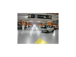 Flowcrete Australia Deckshield car park decking system installed at Malaysia mall