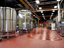 Flowcrete antimicrobial resin flooring installed at Florida brewery