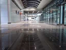 Flowcrete subfloor screed system at Hong Kong's new cruise terminal