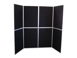 Foldapanel display boards available from Portable Displays Australia
