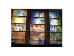 Full length laminated glass windows from DigiGlass installed at Bunbury Cathedral in Western Australia