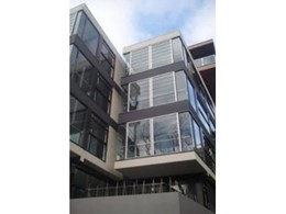 G12F frameless glass louvre system installed at Elan Luxury Apartments in Melbourne