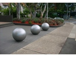 Giant concrete balls from Moodie Outdoor Products protect assets