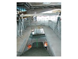 Girder Trolley from Kennards Lift & Shift used to Link Gantries for Staircase Installation