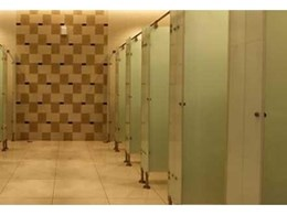Glass toilet cubicles from Compact Group