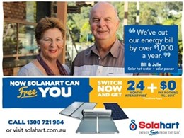Go solar with Solahart to save on rising energy costs