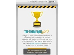 Grand prize of $4,000 in tools in Top Tradie Cup 2014