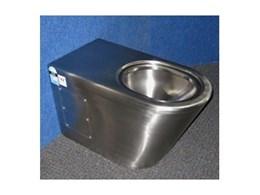 Grandeur stainless steel toilets available from Britex