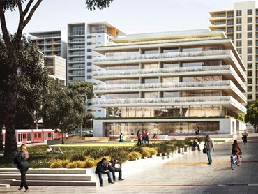 Grimshaw Architects are bringing a European-style central courtyard apartment model to Sydney. Image: Grimshaw/City of Sydney