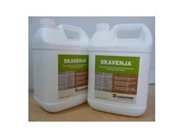 HANAFINN Skavenja non acidic gel cleaner for efflorescence, grout haze and rust stain now available from Dry-Treat