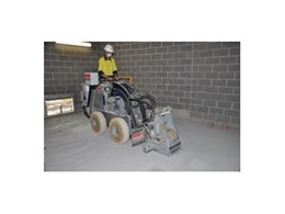 Heavy duty mini loader with wider profiler is now available for hire from Kennards Concrete Care
