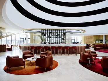 The Emil Sodersten Award for Interior Architecture - Canberra Airport Hotel (ACT) by Bates Smart. Photography Anson Smart