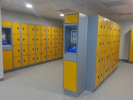 Hi-tech keyless lockers installed at Auckland airport facility