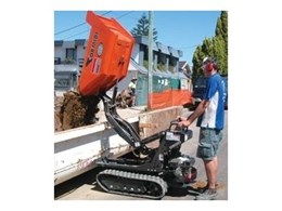High Tip Dumper from Kennards for Residential Sub-Floor Excavation.
